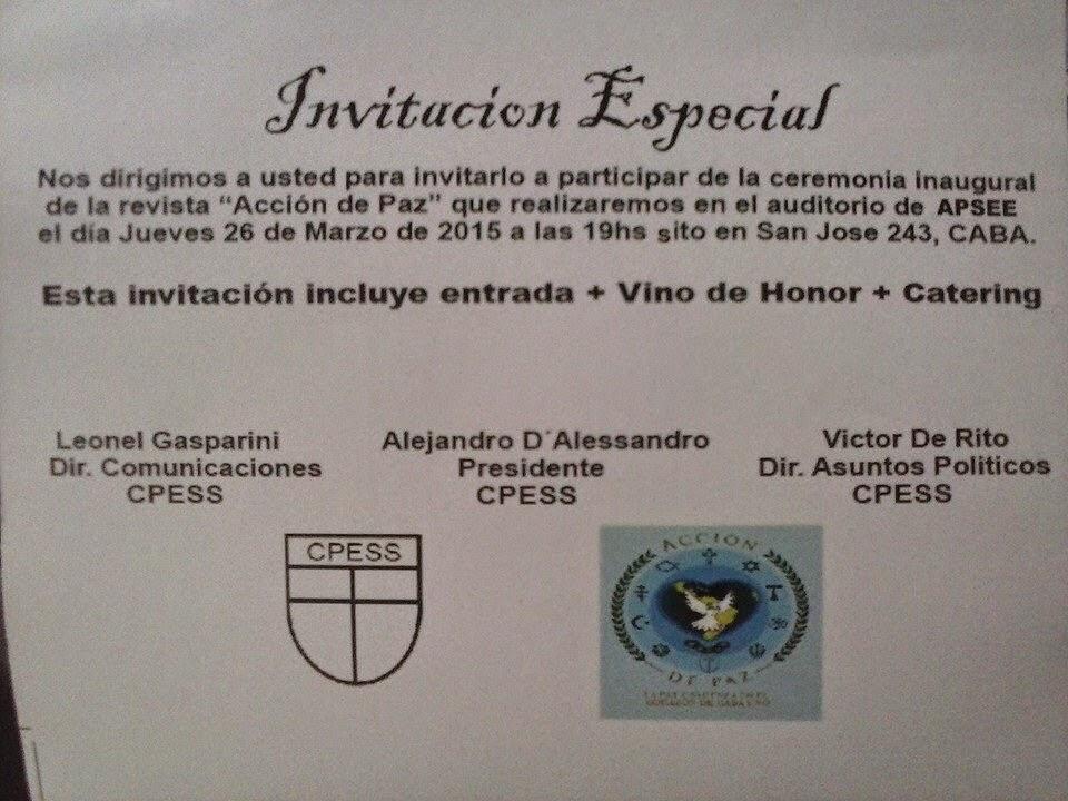 INVITACION ESPECIAL