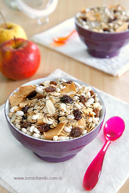 Muesli alla frutta secca prepararlo in casa ricetta vegana - vegan muesli recipe