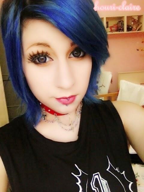 Neo Gyaru Circle Lenses: Geolica Holicat Funky Cat Blue Lenses