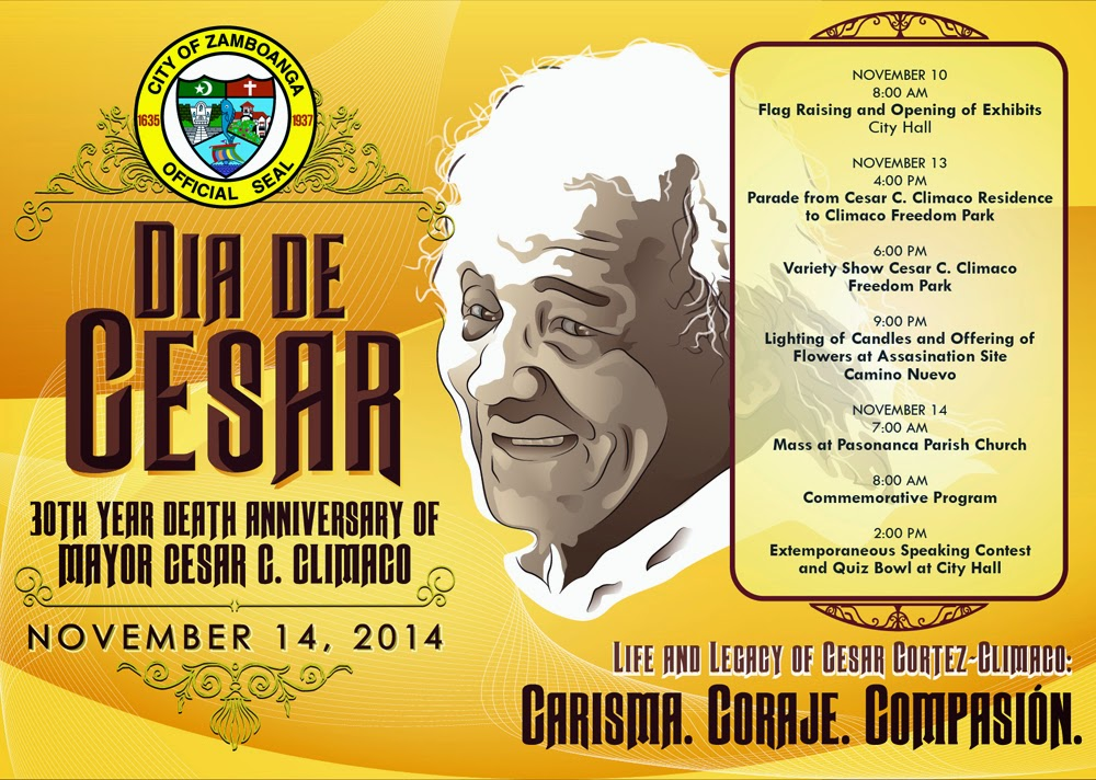 30th Dia de Cesar 2014 Calendar of Activities