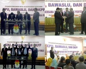 KPU-Bawaslu-DKPP Téken Peraturan Bersama Kode Etik