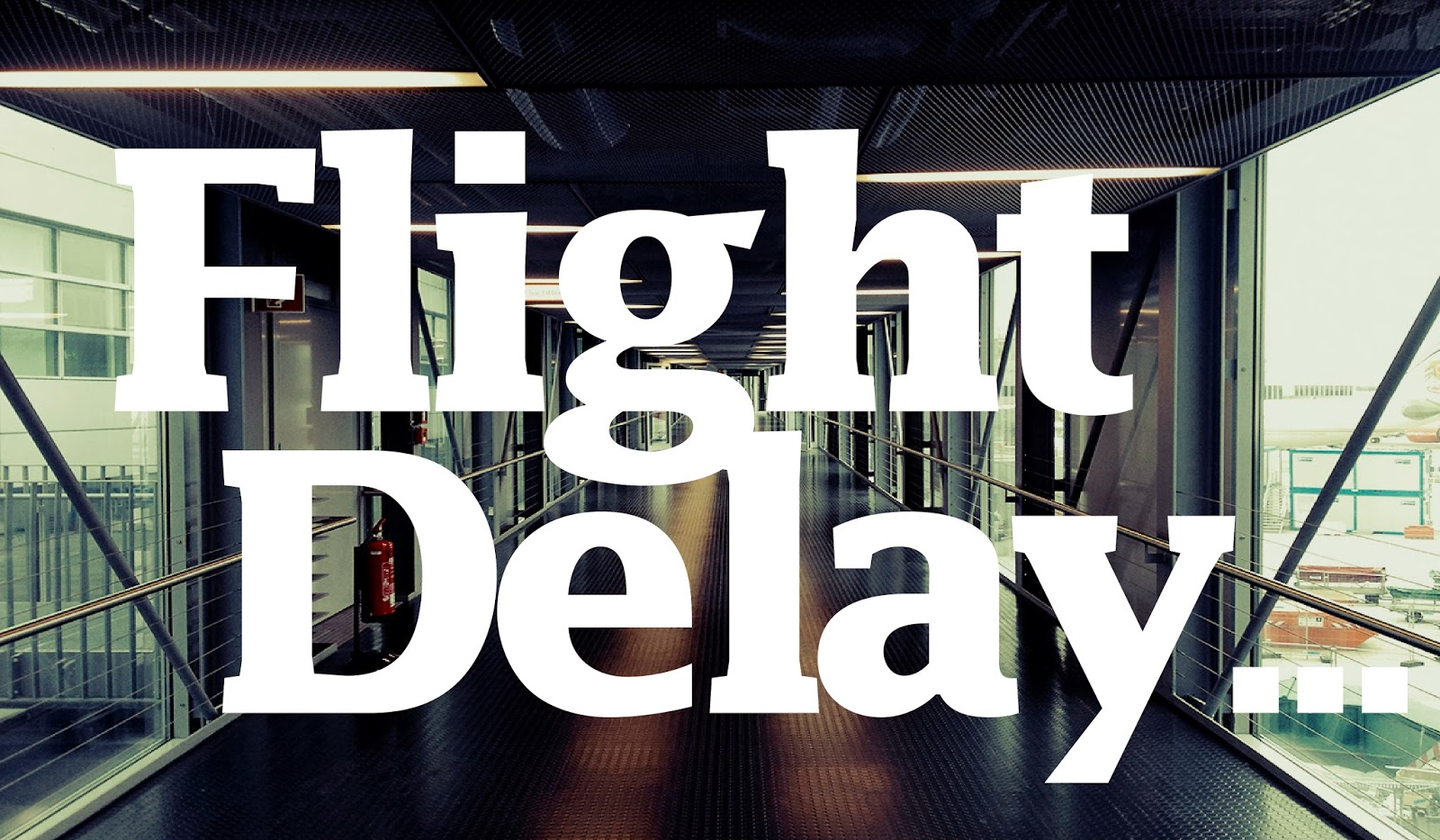 flight delay typography