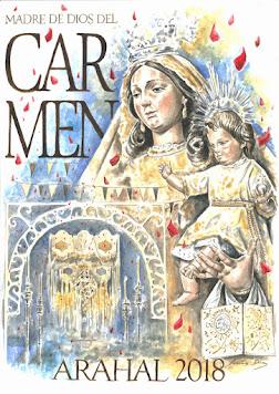 Cartel Madre de Dios del Carmen Arahal 2018