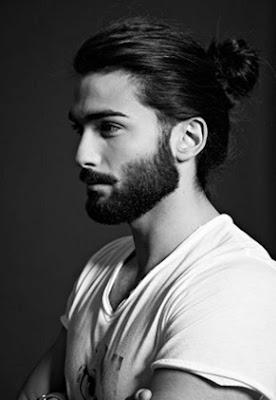 model potongan rambut pria panjang dikucir