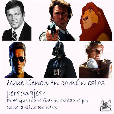 Seis de los personajes mas populares que han sido doblados por Constantino Romero