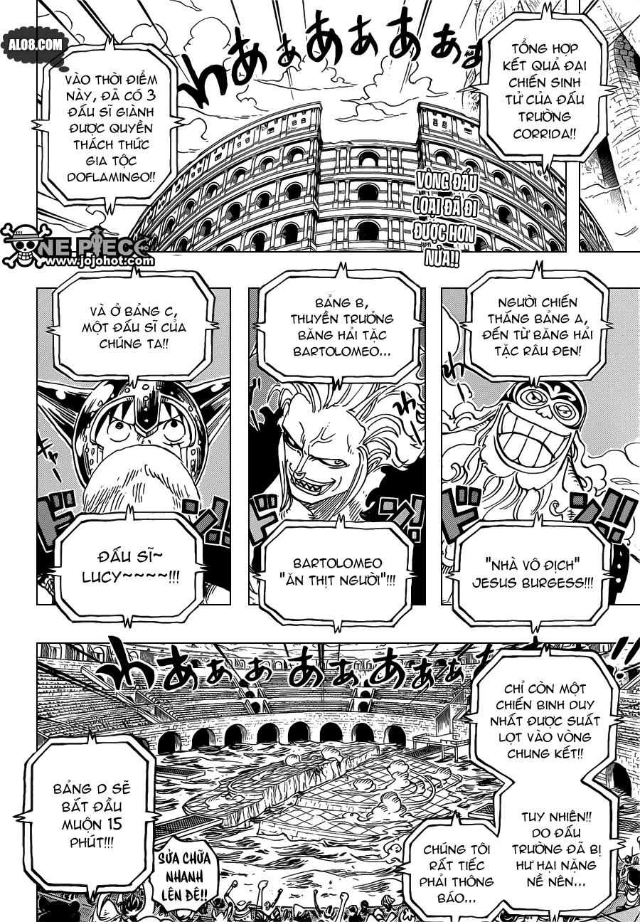One Piece Chapter 720: Những đấu sĩ tù nhân  002