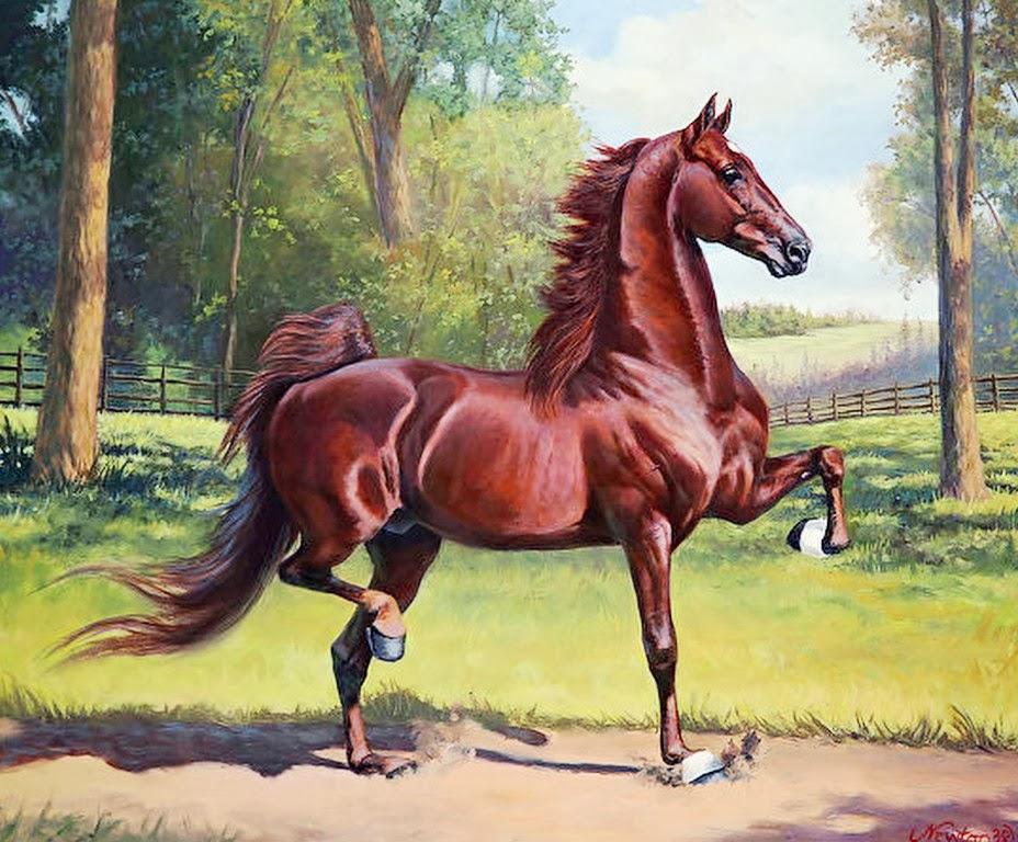 Arte pinturas leo galer a de pinturas con caballos - Los cuadros mas bonitos ...