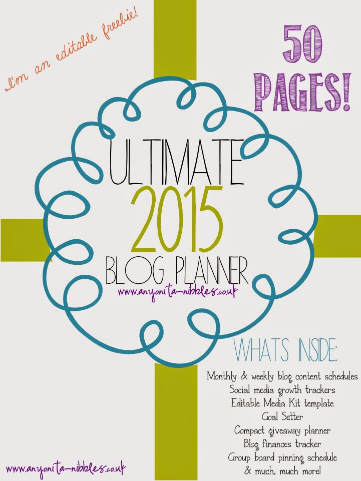 Free 2015 Blog Planner from Anyonita-Nibbles.co.uk