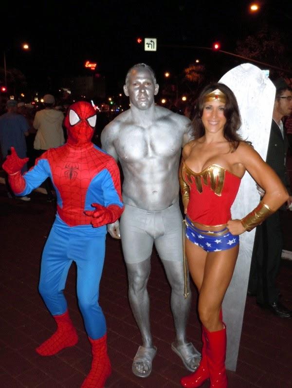 West Hollywood Halloween superhero costumes 2010