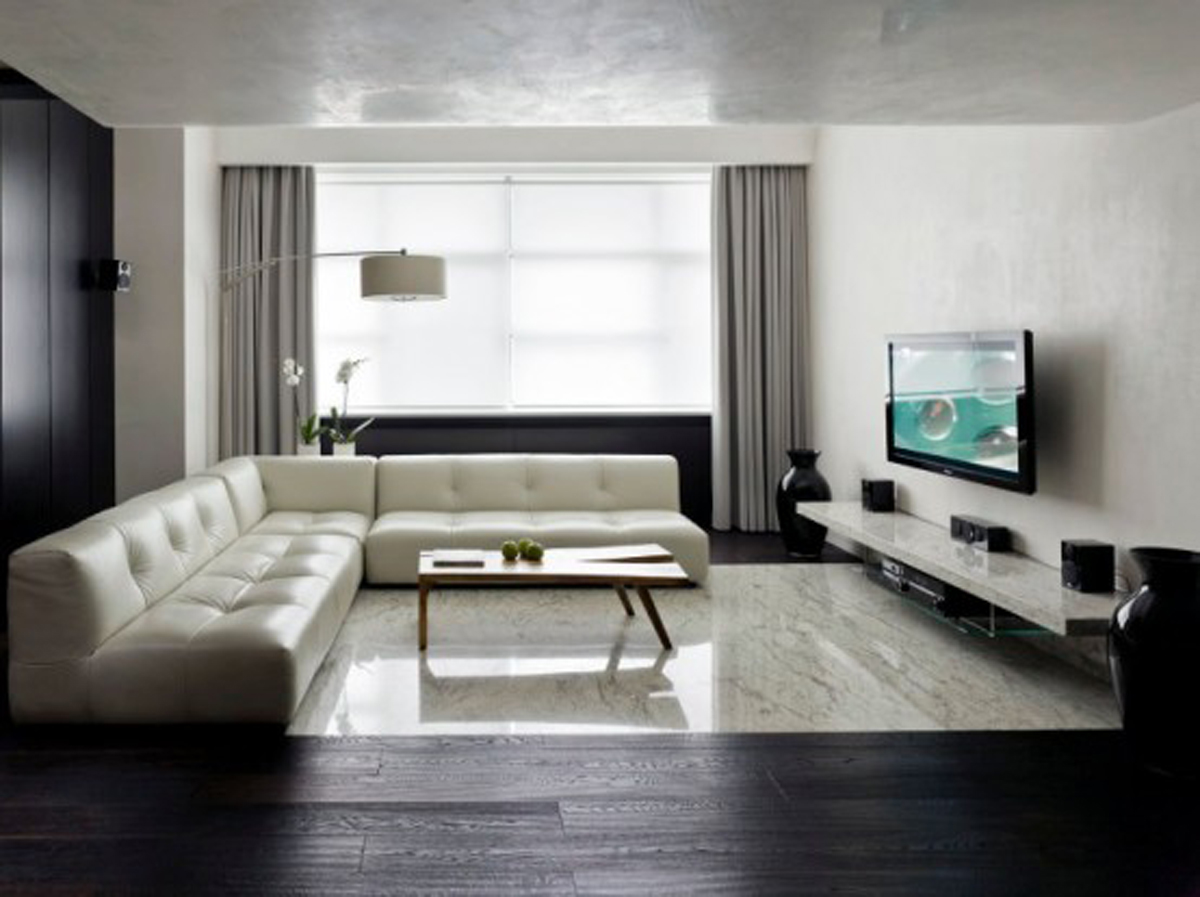 S arquitetura e planejamento decora o sala de estar - Decor ideas for living room apartment ...
