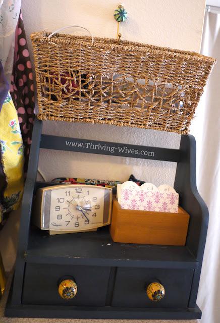 vintage home decor wicker basket small space organization
