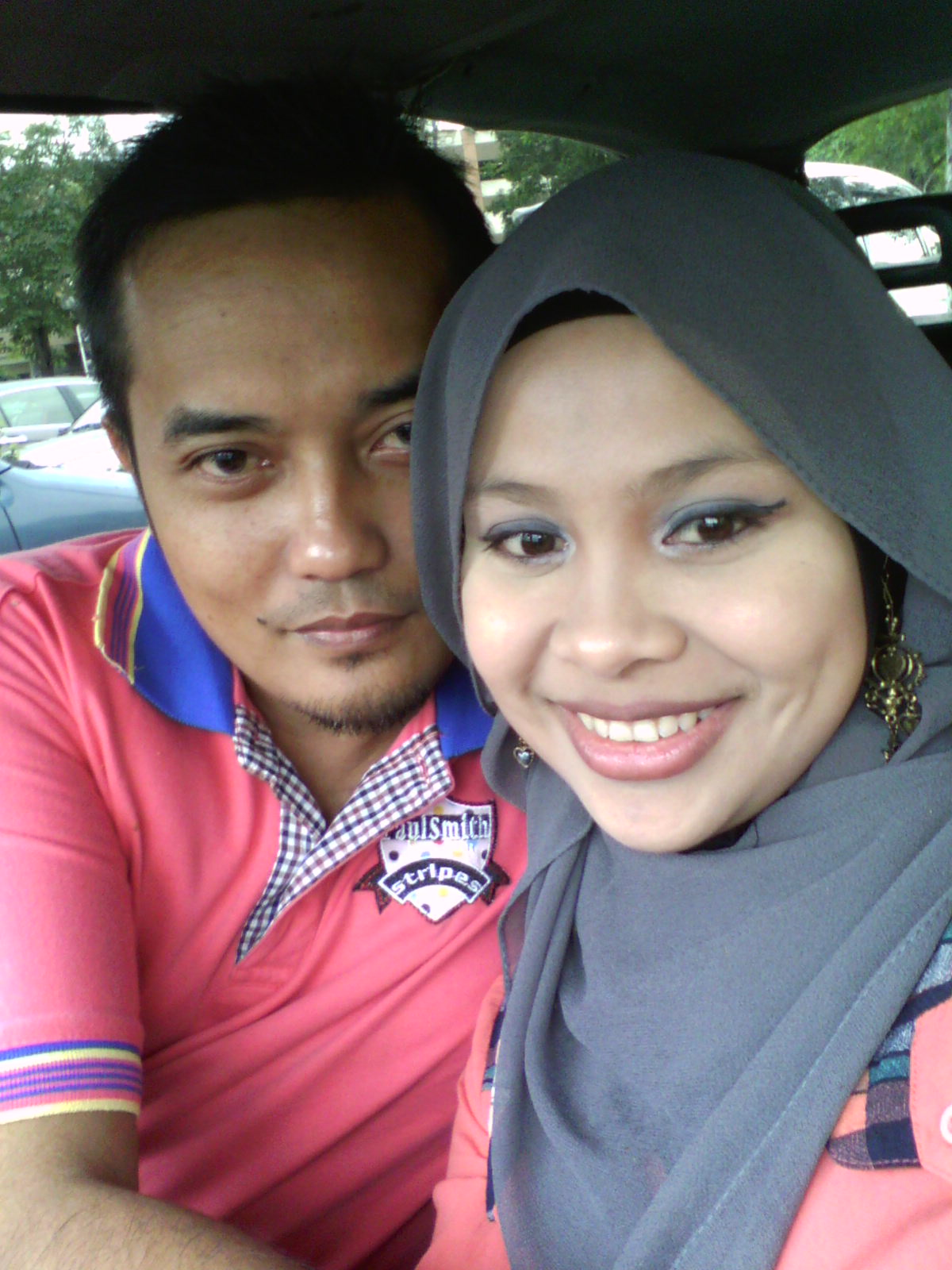 With my beloved husband...