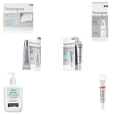 Neutrogena, Neutrogena Winter Skin Rx Gift Basket, Neutrogena skincare, Neutrogena skin care, Neutrogena giveaway, Neutrogena Microdermabrasion Kit, Neutrogena Rapid Tone Repair Night Moisturizer, Neutrogena Rapid Wrinkle Repair Serum, Neutrogena Rapid Wrinkle Repair Eye Cream, Neutrogena All-in-1 Acne Facial Treatment, Neutrogena Ultra Gentle Daily Cleanser