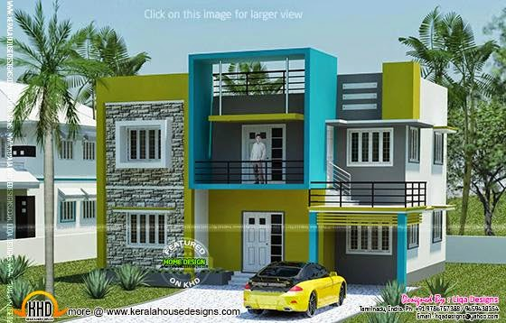 Contemporary Tamilnadu home