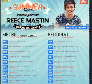 Official 2012 / 2013 Reece Mastin Tour Dates Released! Will Tour with