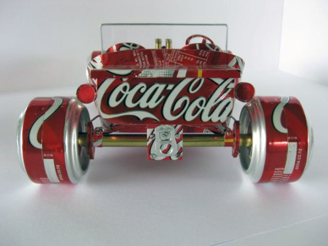 Cars Made Of Aluminum : Transpress nz model cars made from aluminium drink cans
