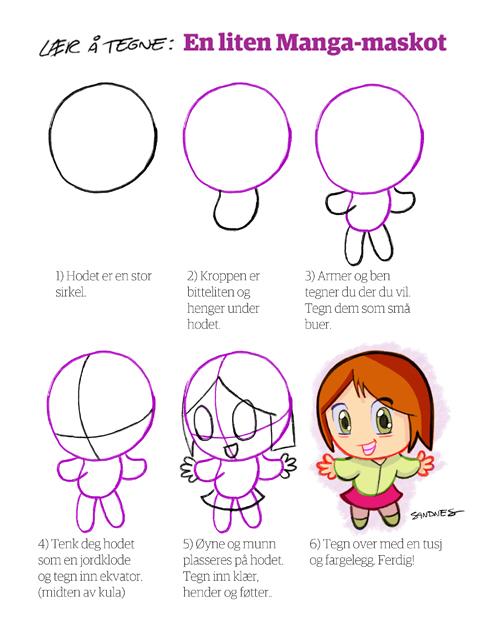 lær at tegne manga