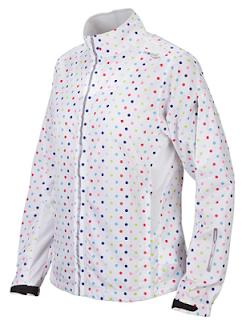 Style Athletics Saucony Workout Clothes White Rainbow Polka Dot Jacket