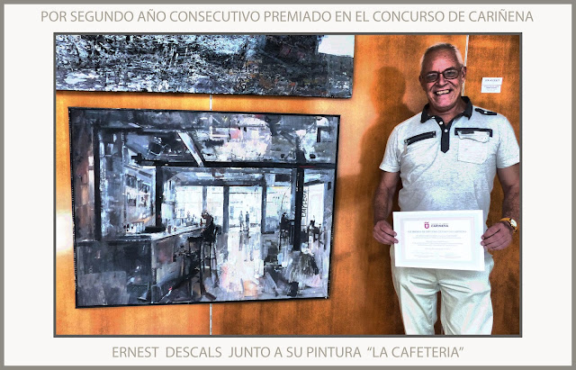 CARIÑENA-PINTURA-PREMIOS-CONCURSO-PREMIO-CAFETERIA-ARAGON-ESPAÑA-FOTOS-PINTOR-ERNEST DESCALS-