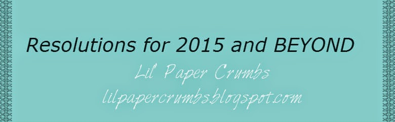 Resolutions for 2015 and BEYOND with Lil' Paper Crumbs