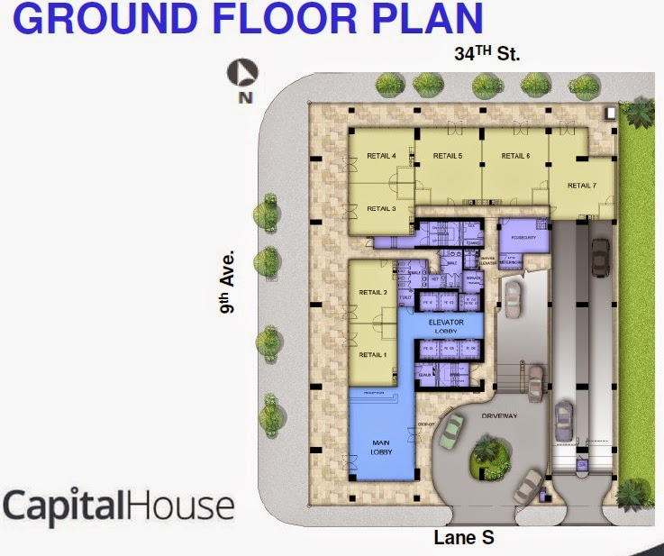 GF Plan of Capital House New Office Building in Bonifacio Global City