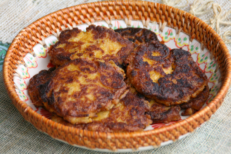 Pumpkin mashed potato pancakes (photo: Dorothy Reinhold, Shockingly ...