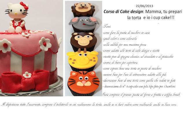corso fase di cake design: mamma tu fai la torta e io i cup cake