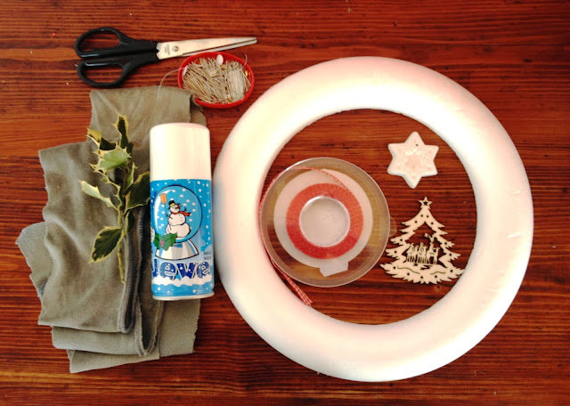 tutorial DIY ghirlanda natale
