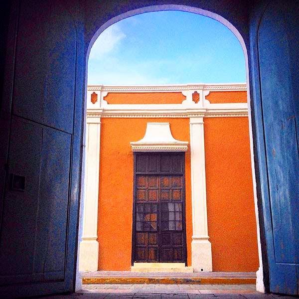 Imagen del centro colonial de Campeche, Yucatán