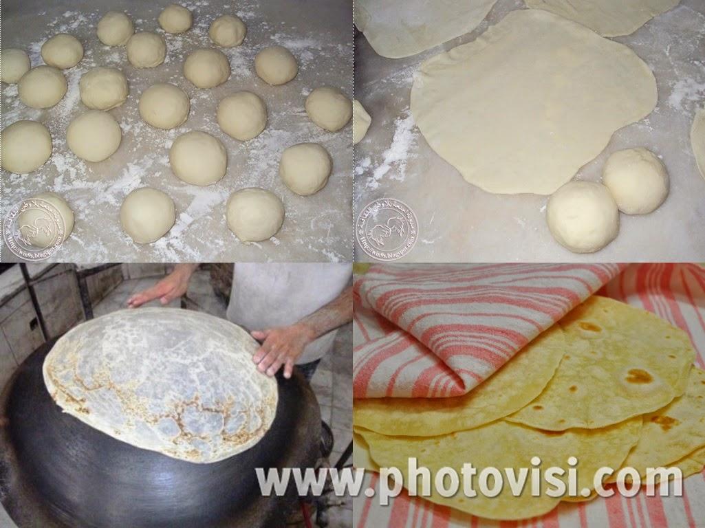 طريقة عمل خبز الصاج في البيت بطريقة سهلة