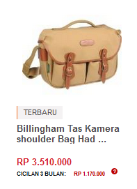 Billingham Tas Kamera shoulder Bag Hadley Pro