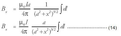 Nilai a, I, dan x adalah suatu tetapan, karena mempunyai nilai yang sama pada tiap elemen arus