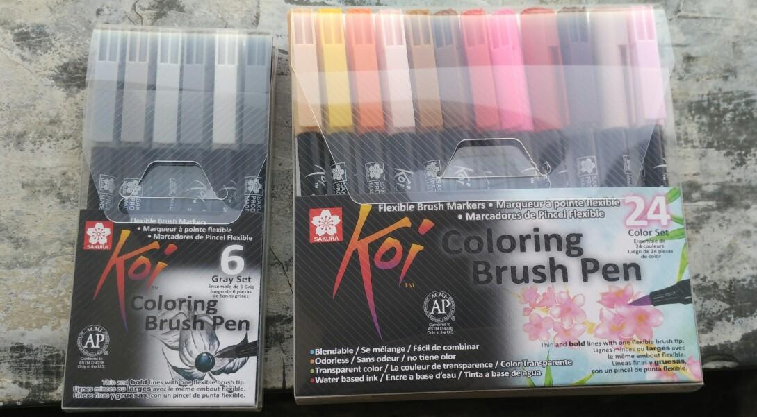 Peralatan Baru Koi Coloring Brush Pen