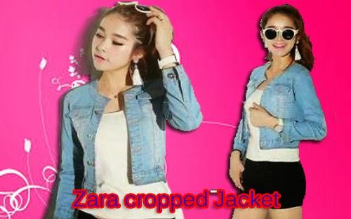jaket wanita murah zara cropped jacket jual jaket wanita murah zara