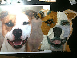 Torn Paper Pet Portraits