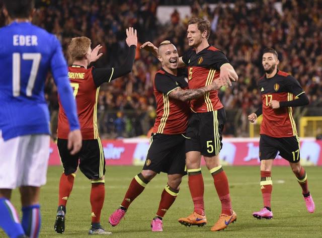 Hasil laga Belgia 3-1 Italia