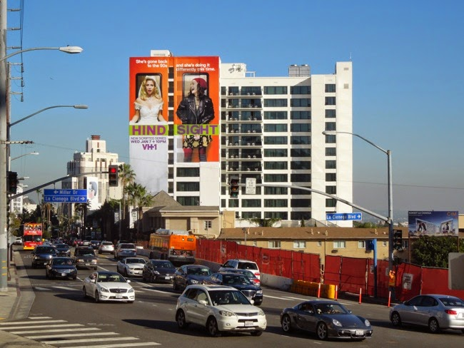 Hindsight VH1 series premiere billboard Sunset Strip