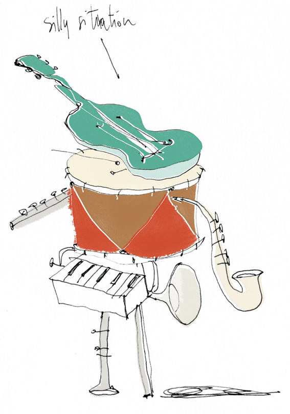 borges illustrazione orchestra Francesca Ballarini