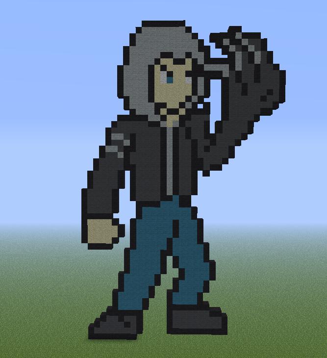 Minecraft Pixel Art Helper: Alex Mercer