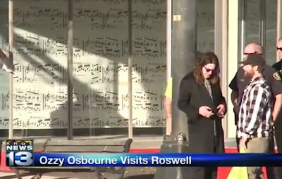 Ozzy Osbourne Visits UFO Crash Site Roswell 2015, UFO Sightings