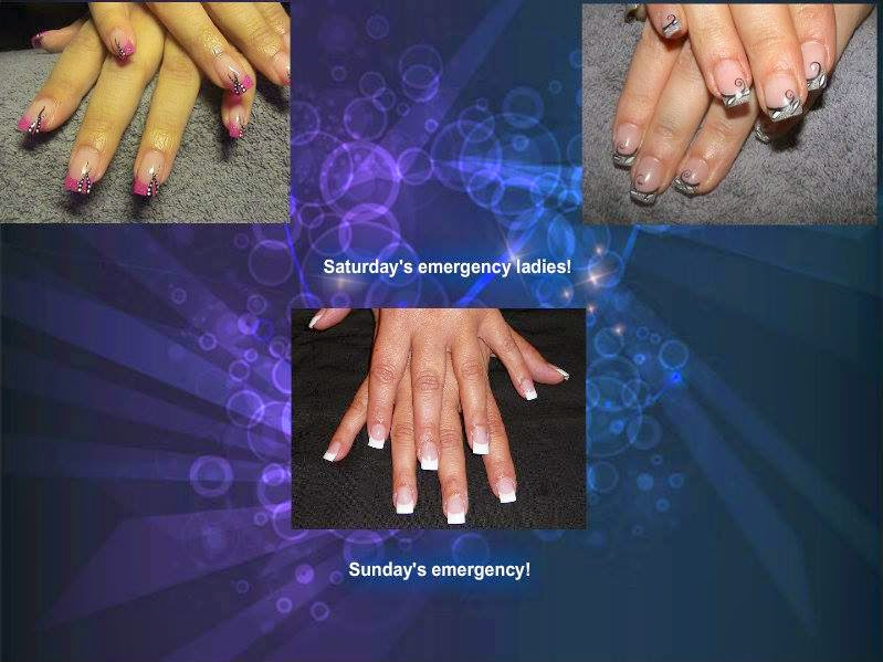 Clean and classic acrylics white silver French  big glitz chrome reflector and holo polish manicure