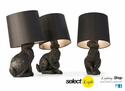Rabbit Lamp by Moooi, lámpara con forma de conejo
