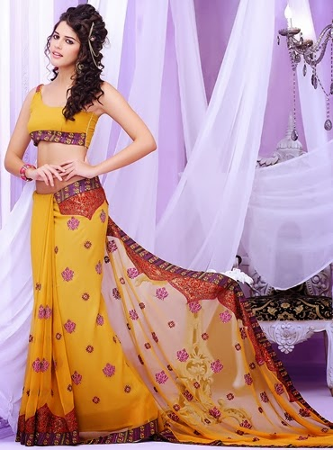 Slim Fit Saree Fashion