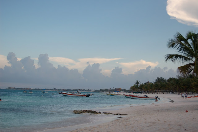 The Public Beach at Akumal Mexico All to Ourselves at Sunset