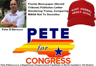 Pete D'Abrosca Rep Congress Candidate NC 7th Dist Responds to Herald Tribune Article