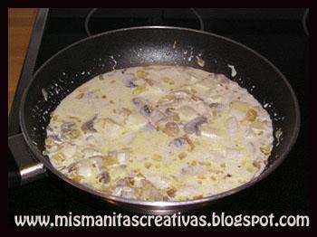 Receta como hacer salsa de champi ones mis manitas creativas - Como hacer salsa de nata ...