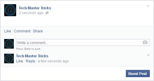 Blank facebook status update template