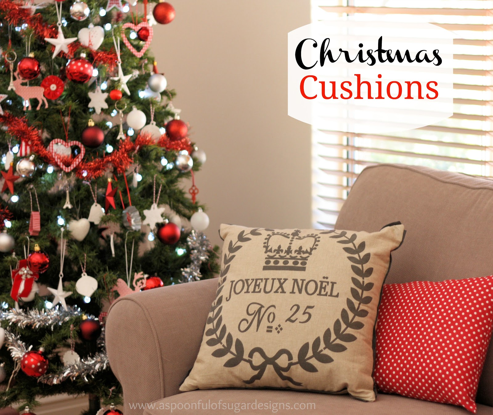 christmas cushions a spoonful of sugar