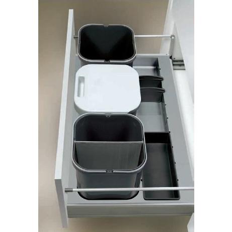 Kit basura reciclaje cocina cajon