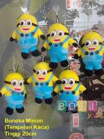 Boneka Minion untuk ditempel dikaca